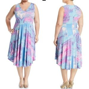Rachel Rachel Roy Marled Midi Dress multi color 3X